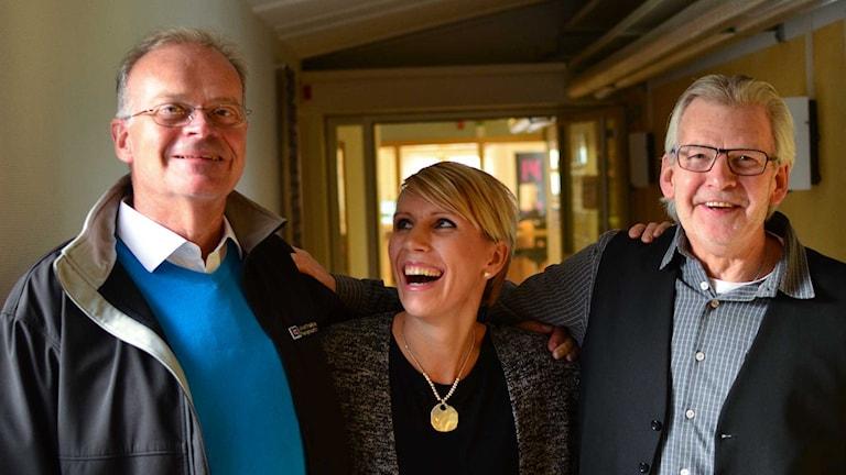 Christian Andersson, Vickie Peolin & Jalle Haglund. Foto: Per Lundberg/Sveriges Radio