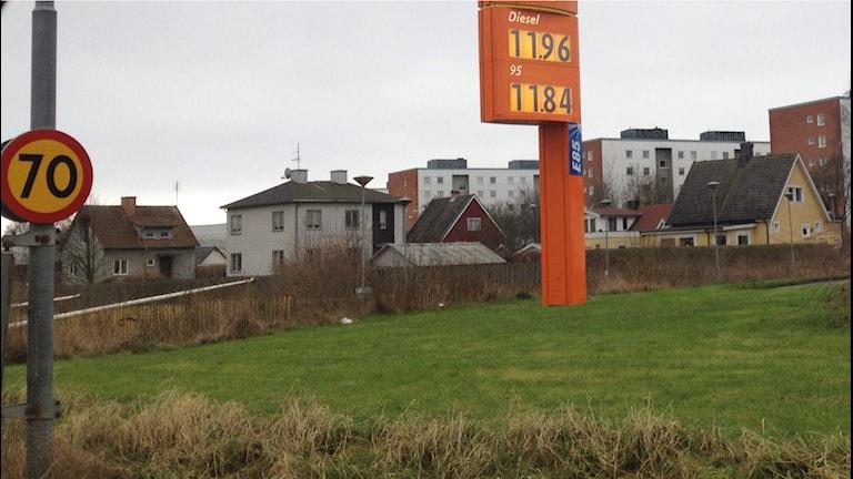 Bensinpriset lägre än på flera år. Foto: Jenny Sandgren/Sveriges Radio.