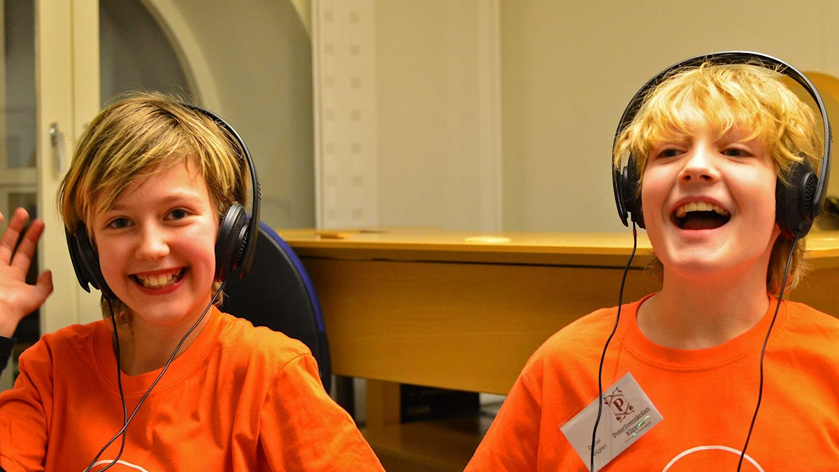 Annie Pettersson & Daniel Ahlgren Petersvensskolan. Foto: Per Lundberg/Sveriges Radio