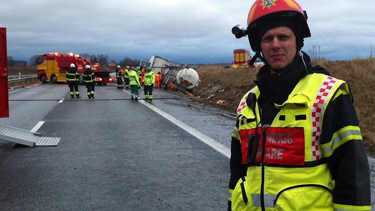 Räddningsledare Jonas Nilsson.