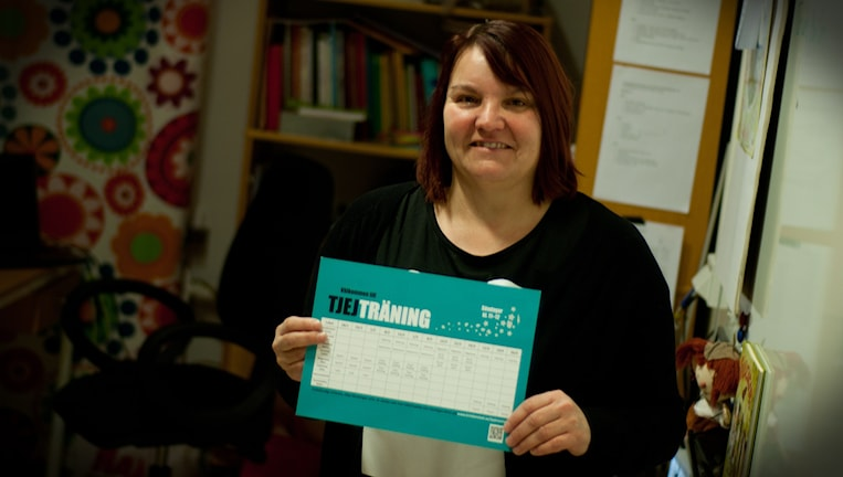 Anette Andersson, ordförande för Kristianstad Bågskytteklubb. Foto: Johan Pettersson/Sveriges Radio