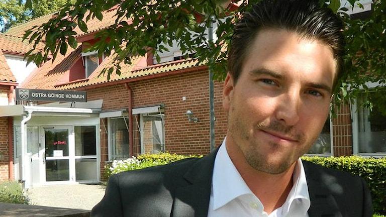 Östra Göinges kommunalråd Patric Åberg(m) deltar i grupp som ser över moderaternas integrationspolitik. Arkivbild: Sveriges Radio.
