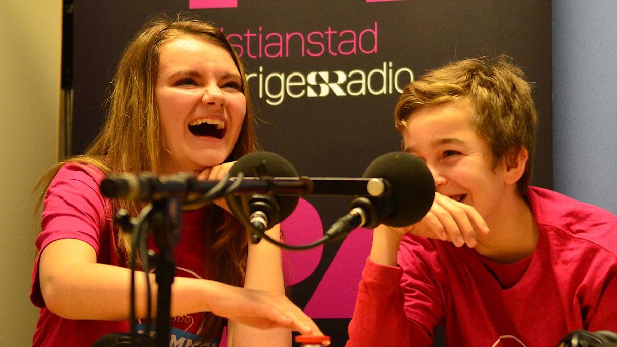 Melinda Rosen & Sirvan Amirkhani, Beringskolan. Foto: Per Lundberg/Sveriges Radio