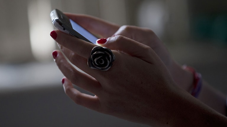 Smart mobiltelefon, arkivbild
