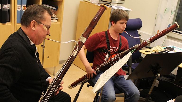 Bengt Eriksson och Gustav Alftberg, fagott