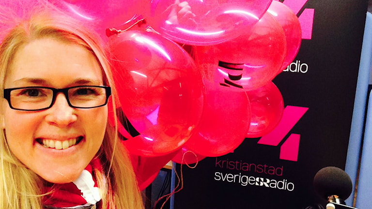 Jenny Johnsson Roos med ballonger