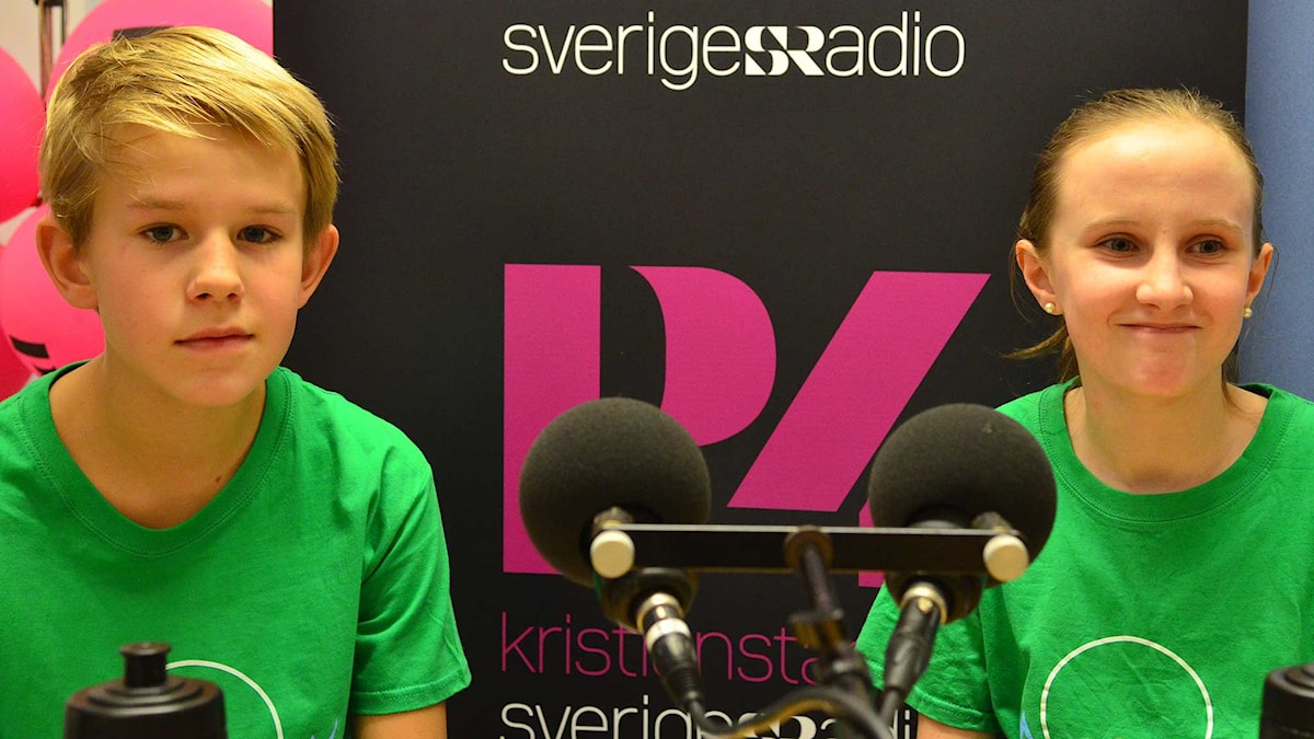 Milton Andersson & Matilda Persson, Viby skola. Foto: Per Lundberg/Sveriges Radio