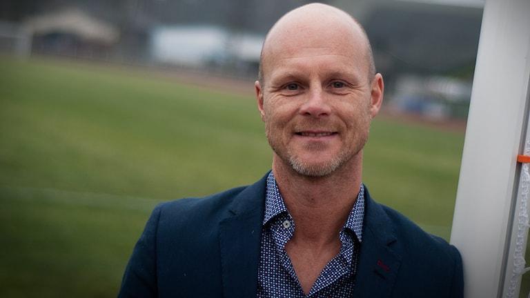 Christian Carlsson, tränare för KFF. Foto: Johan Pettersson/Sveriges Radio