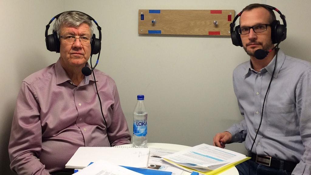 Anders Norberg, vice vd TransportGruppen och Martin Miljeteig, ombudsman