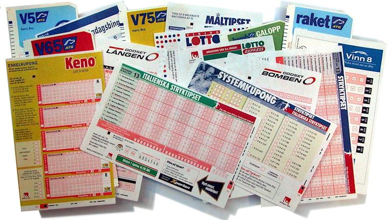Spelkuponger, tips, lotto, keno.
