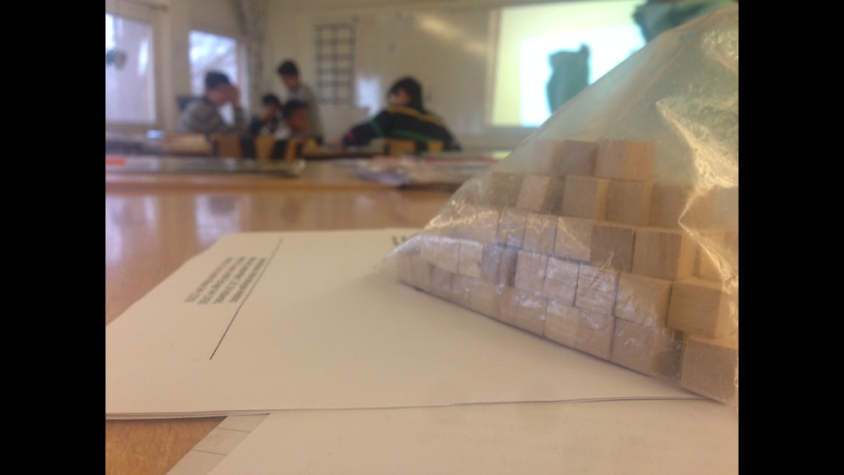 Elever i klassrum