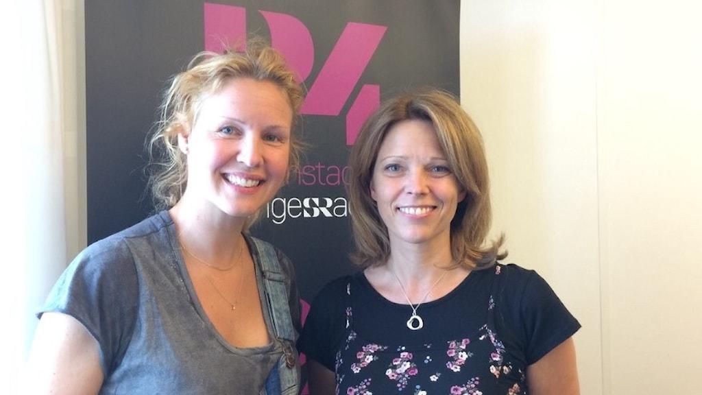 Sång, premiärnerver och Ängelholm diskuterades under morgonen med Jenny Silver och Anna Bromee