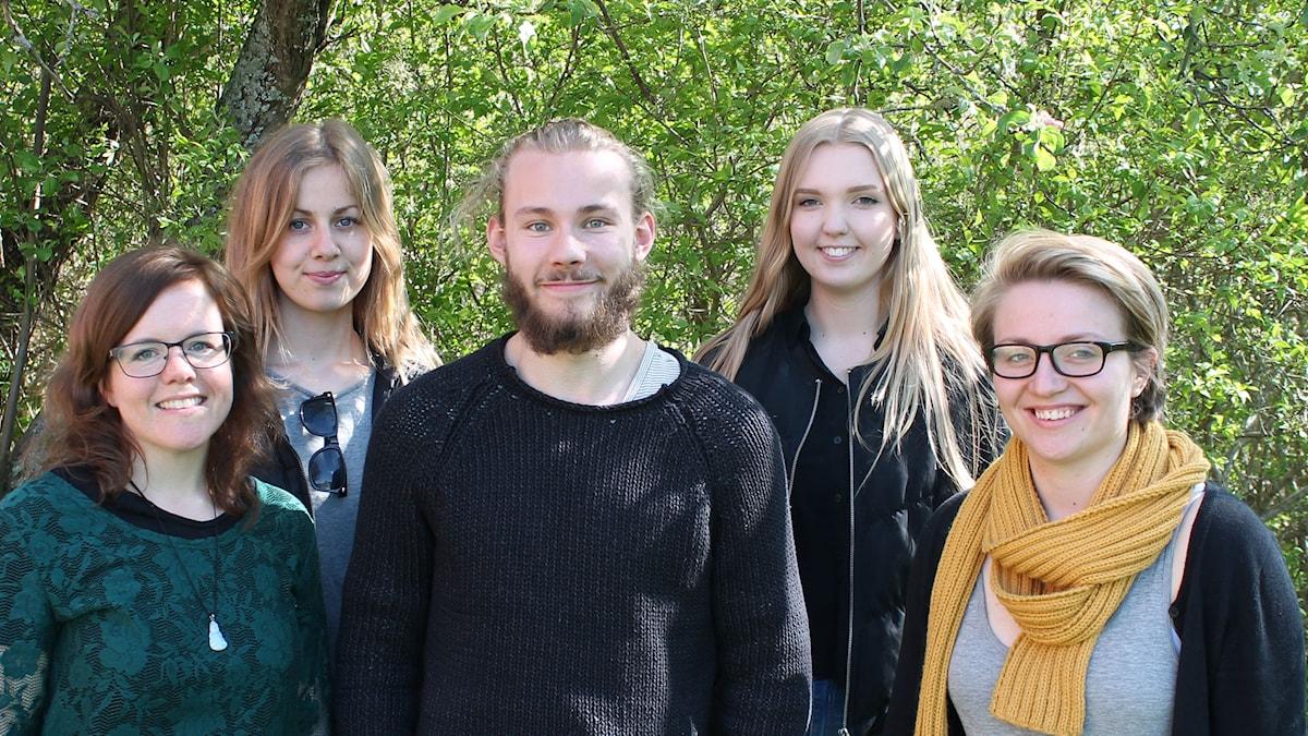 Musikskolan Emma Isaksson, Louise Wicksell, Josef Isaksson, Tilda Sventorp och Lisa Nilsson