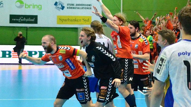 Matchen slut, final nästa. Foto: Per Lundberg/Sveriges Radio