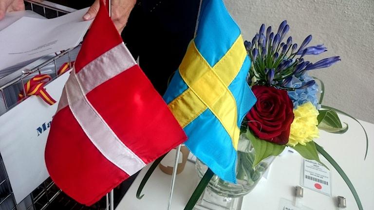 Östra Danmark och södra Sverige och samarbete.