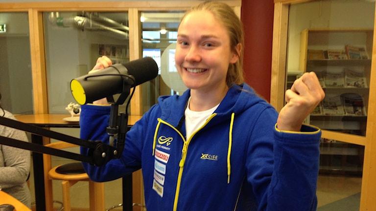 Kanske blir det en bakelse med Elises ansikte i Broby, efter framgångarna i Ryssland. Foto: Cecilia Ahle/Sveriges Radio