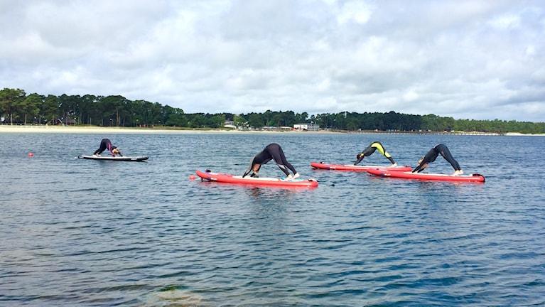 Yoga på vatten