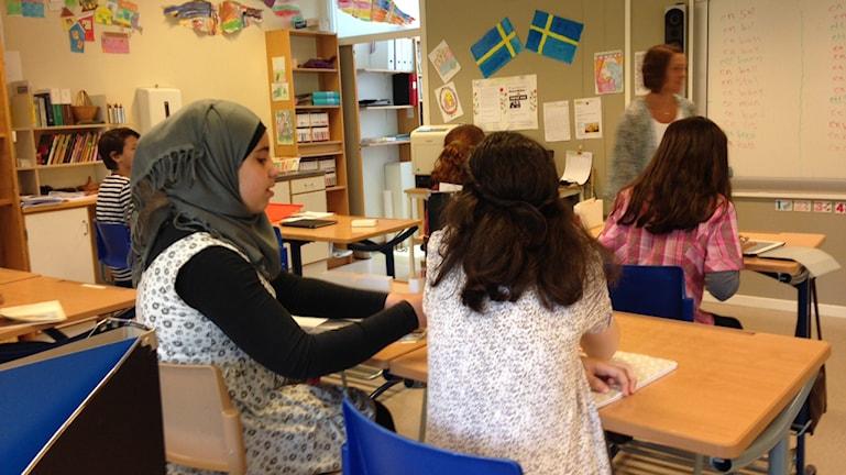 Elever på sommarskolan i Osby