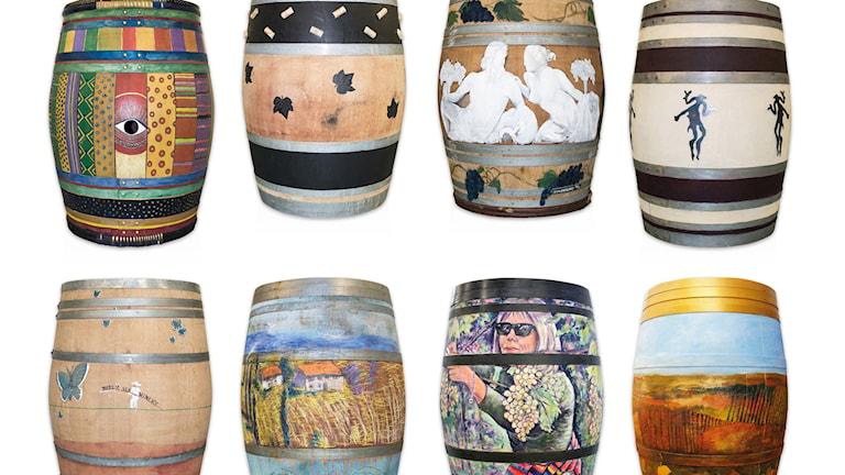 De sålda vintunnorna skapades i ett konstnärsprojektet av Nordic Sea Winery. 24 000 kronor samlades in. Foto:Privat