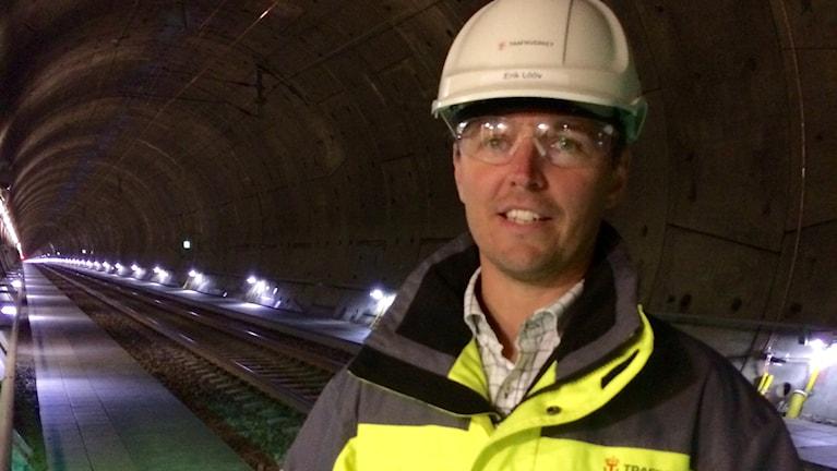Projektchef Erik Lööv i Hallandsåstunneln