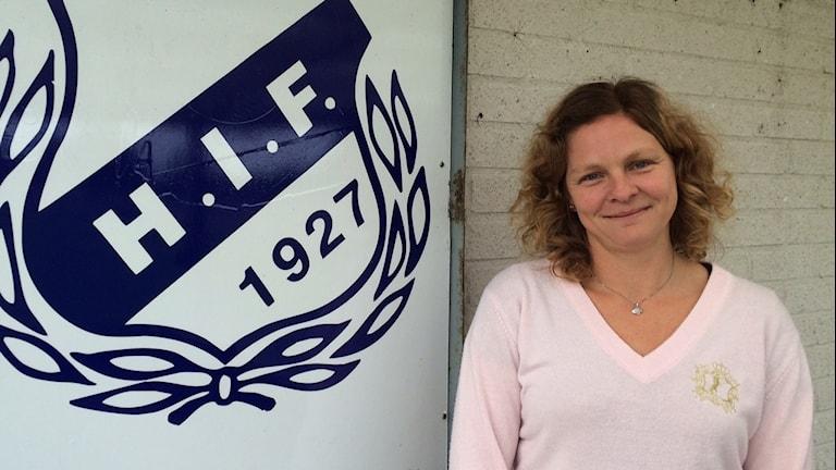 Hammenhög IF:s ordförande Åsa Persson undrar varför deras elitsatsning värderas ner. Foto: Malin Rimfors/Sveriges Radio