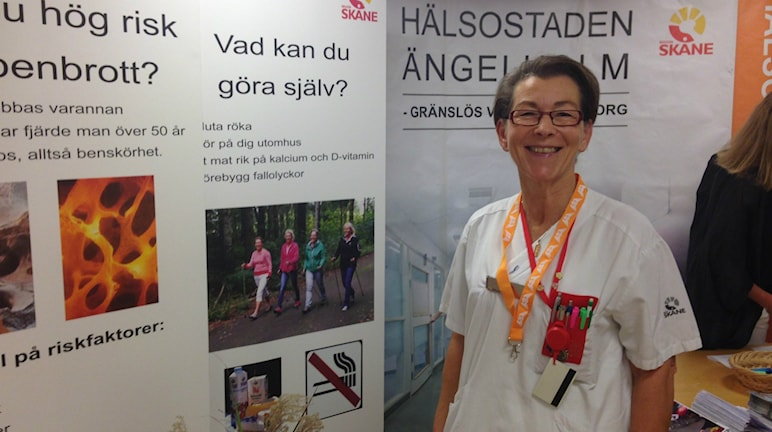 Eva Nilsson sjuksköterska på Ängelholms sjukhus. FOTO: Kajsa Nordmark/Sveriges radio