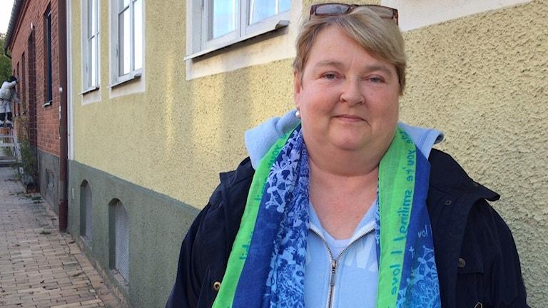 Österlens Ridklubbs ordförande Suzanne Grenz kritserar kommunens sponsringspolitik. Foto: Malin Rimfors/Sveriges Radio