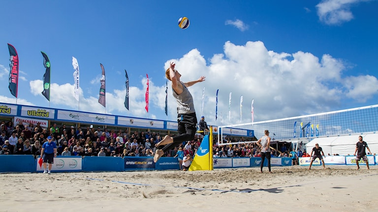 Beachvolleyspelare