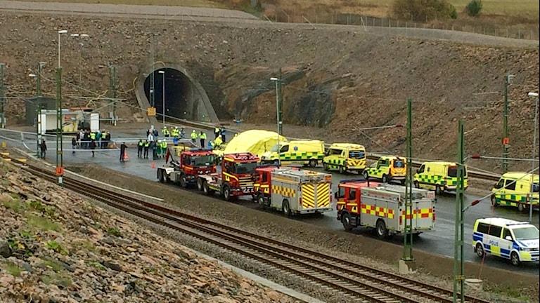Övningen blå kongo i Hallandsåstunneln