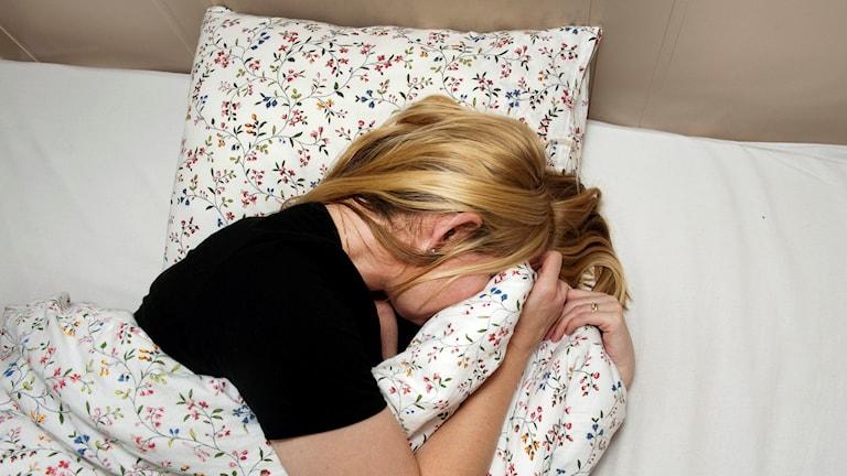 PMDS PMS deprimerad kvinna