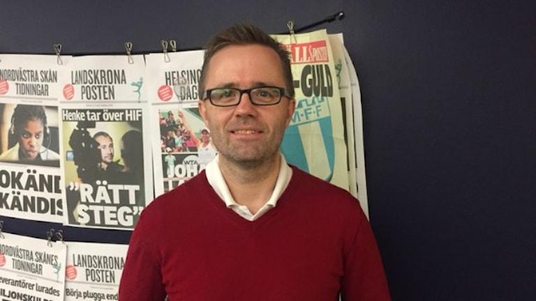 Jonas Kanje, ny chefredaktör för Helsingborgs Dagblad. Foto: Christian Abrahamsson