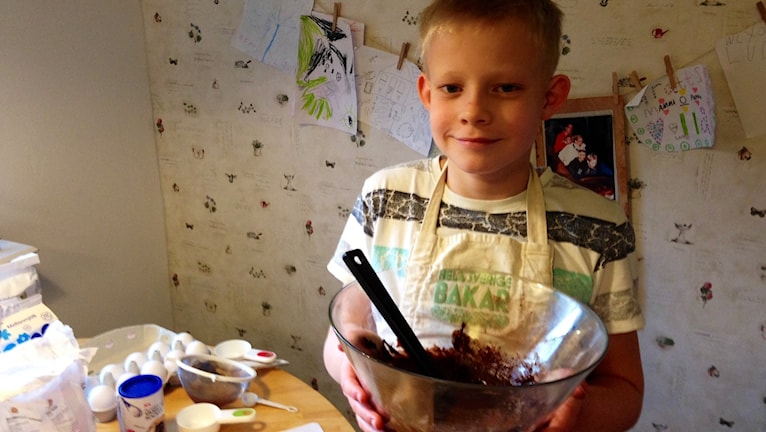 William Thurban bakar Fredags cupcakes