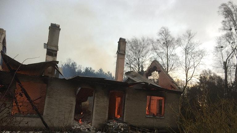 Branden i gamla skolan i Hörröd