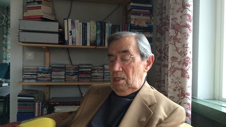 Emerich Roth, överlevare från Förintelsen och debattör. FOTO: Katarina Sköldqvist/Sveriges Radio