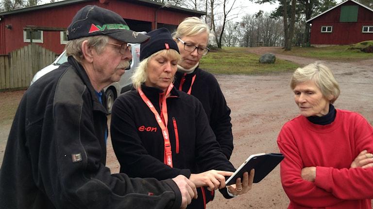 strömlöst hos bo och lena Nilsson. eon på besök. Foto: Victor Eriksson/Sveriges Radio.