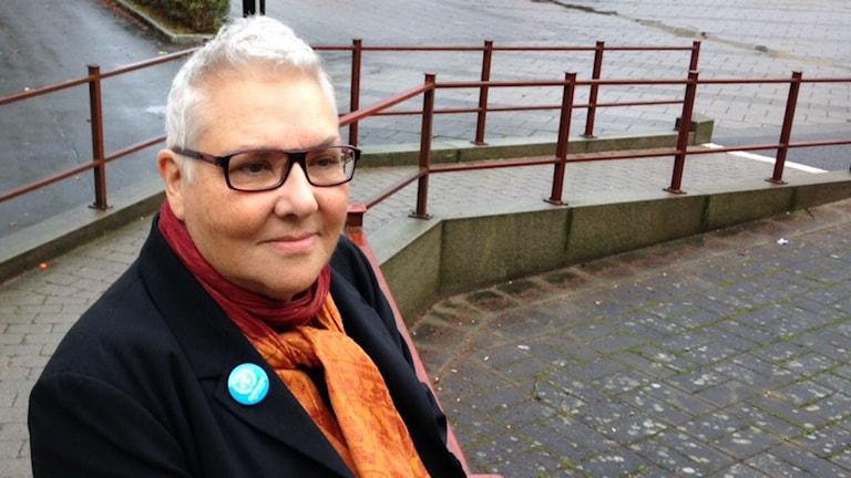 Ing-Britt Pettersson Nyholm, frivilligarbetare i FN-föreningen. Foto: Moa Lundgren