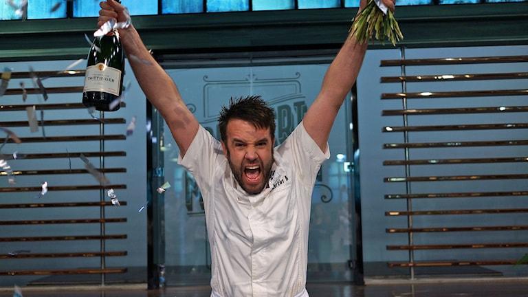 Martin Morand från Sankt Olof tog hem segern i Dessertmästarna 2015. Foto: Kanal 5/CC BY 3.0