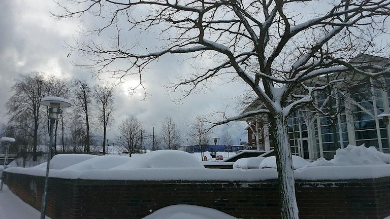 Snön kommer till Skåne.