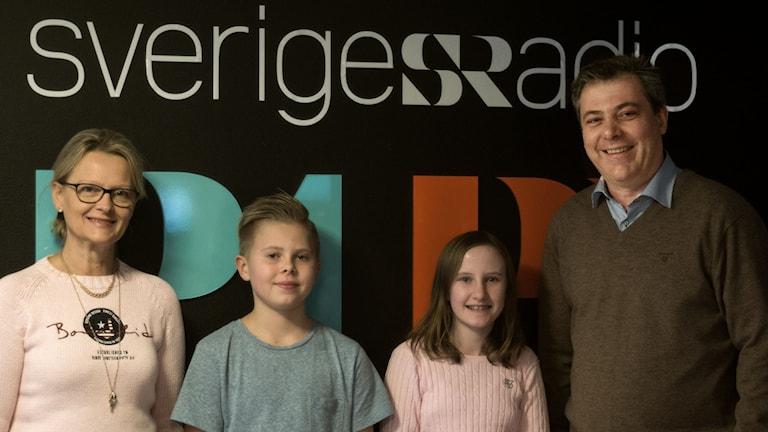 Helene Fritzon, Matilda Persson, Filip Hannjö och Pierre Månsson