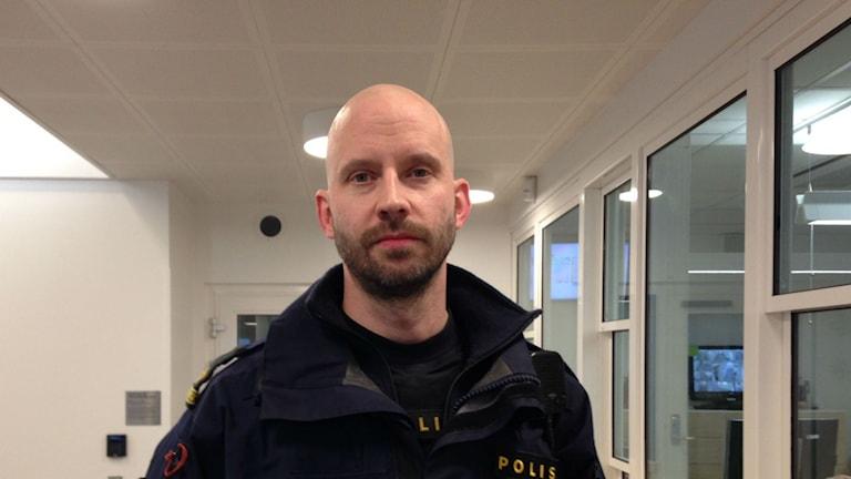 Thomas Linde, yttre befäl i Kristianstad Foto: Moa Lundgren