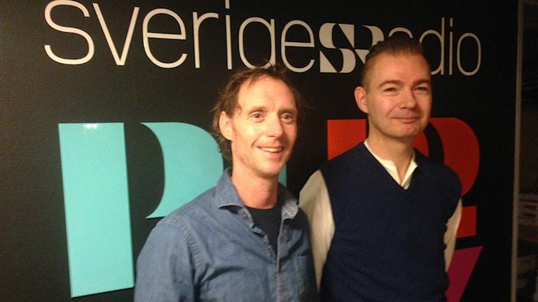 Conny Alfonsson och Magnus Cadier, Halv åtta hos oss. Foto: Linnéa Mattisson/Sveriges Radio
