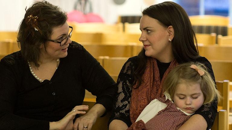Malin, Rebecka och Mira