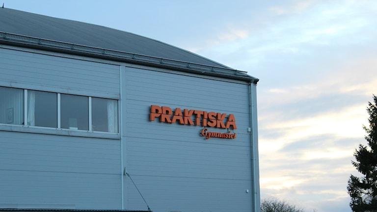 Praktiska gymnasiets fasad i Kristianstad