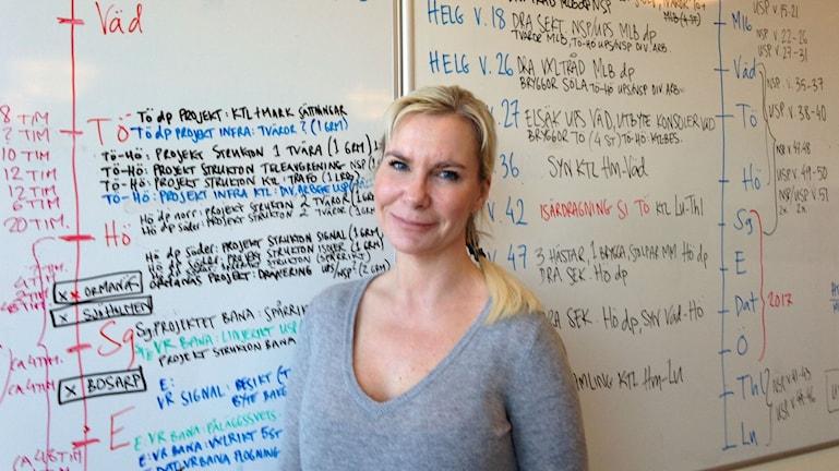 Pernilla Merkenius, Projektledare på Trafikeverket. Foto: Victor Eriksson/Sveriges Radio.