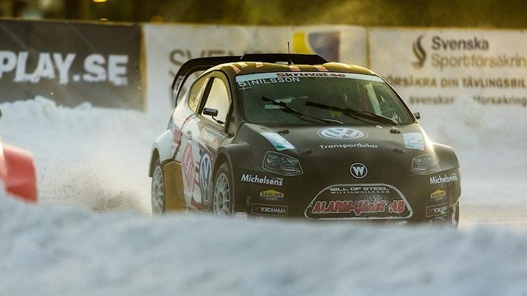 William Nilsson från Tomelilla kör RallyX on Ice. Pressbild