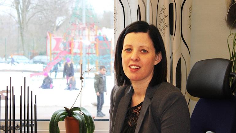Maria Gustavsson, rektor på Beringskolan