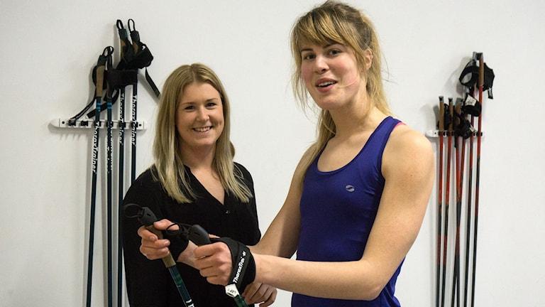 Felicia Johansson, instruktör och Karin Bengtsson