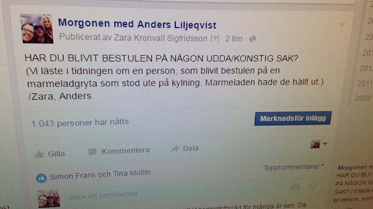 Facebookfråga