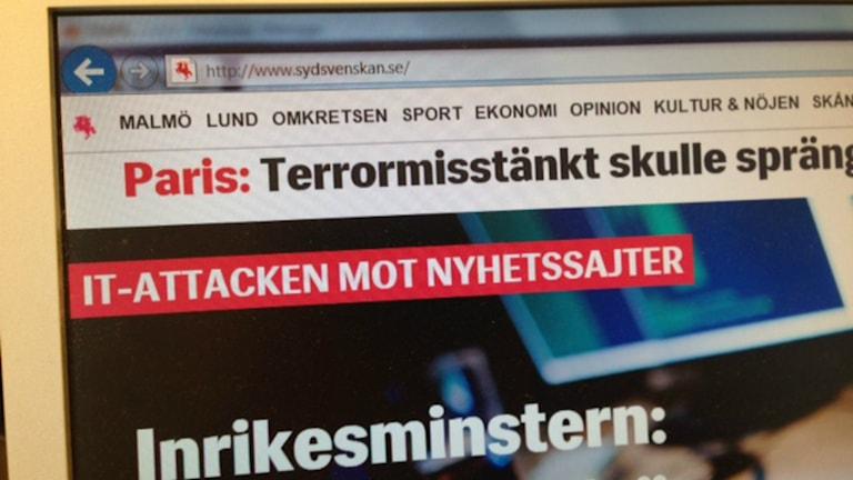 Sydsvenskans sajt fungerar igen.