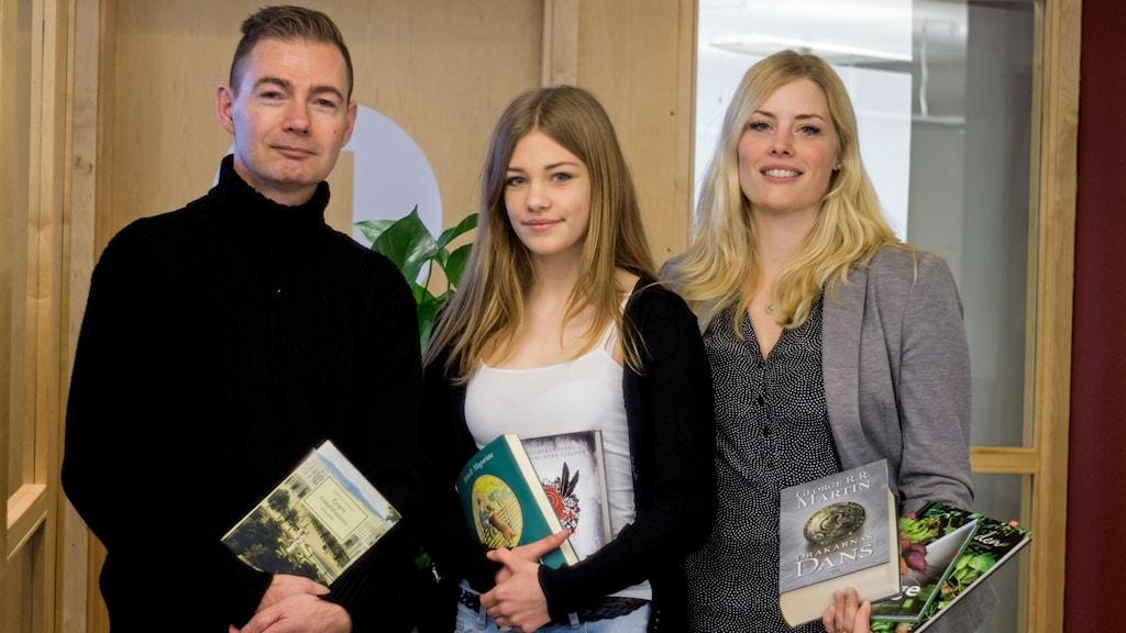 Bokklubben inför påsken med Terese Engqvist, Magnus Cadier och Agnes Martinsson